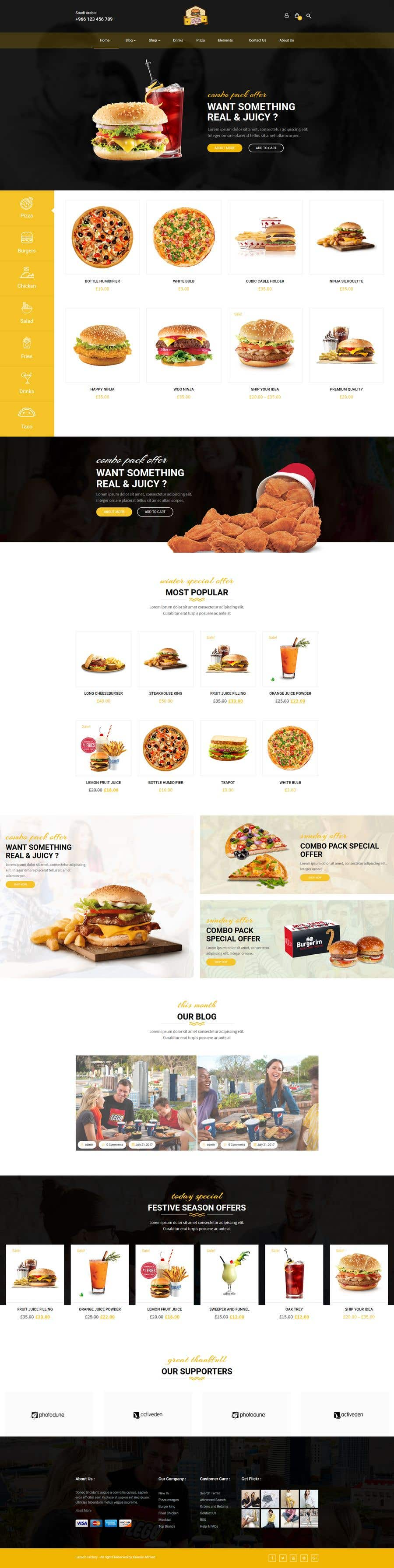 Конкурсная заявка №25 для Design A Website and Logo For Restaurant
