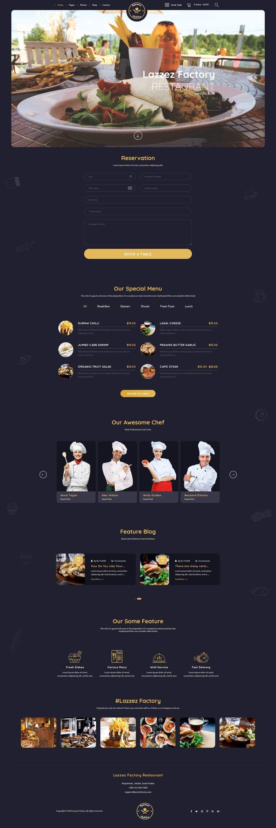 Конкурсная заявка №35 для Design A Website and Logo For Restaurant