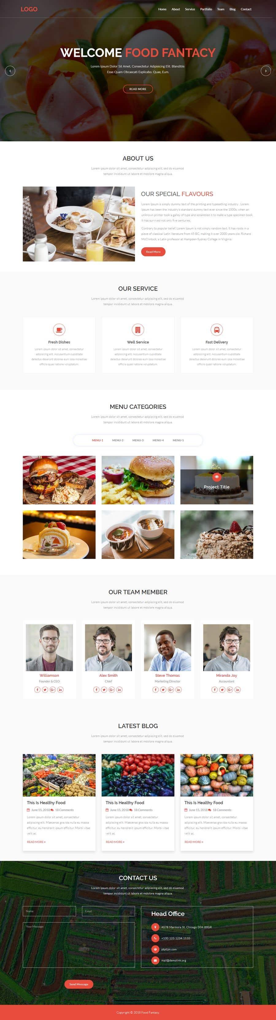 Конкурсная заявка №96 для Design A Website and Logo For Restaurant
