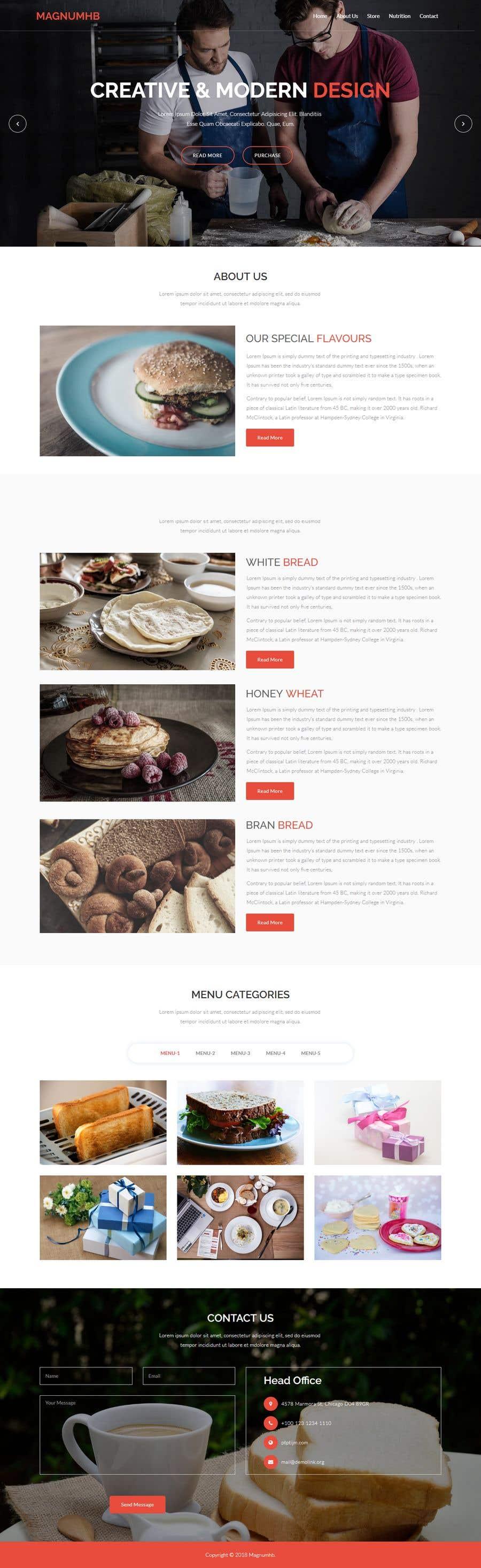 Konkurrenceindlæg #97 for Design A Website and Logo For Restaurant