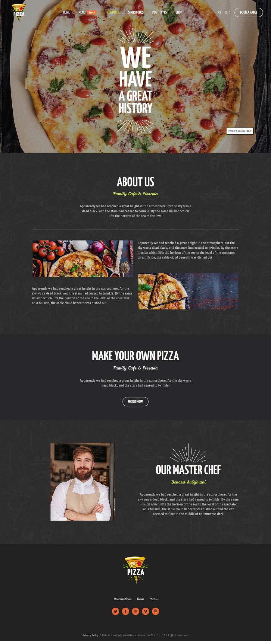 Konkurrenceindlæg #110 for Design A Website and Logo For Restaurant