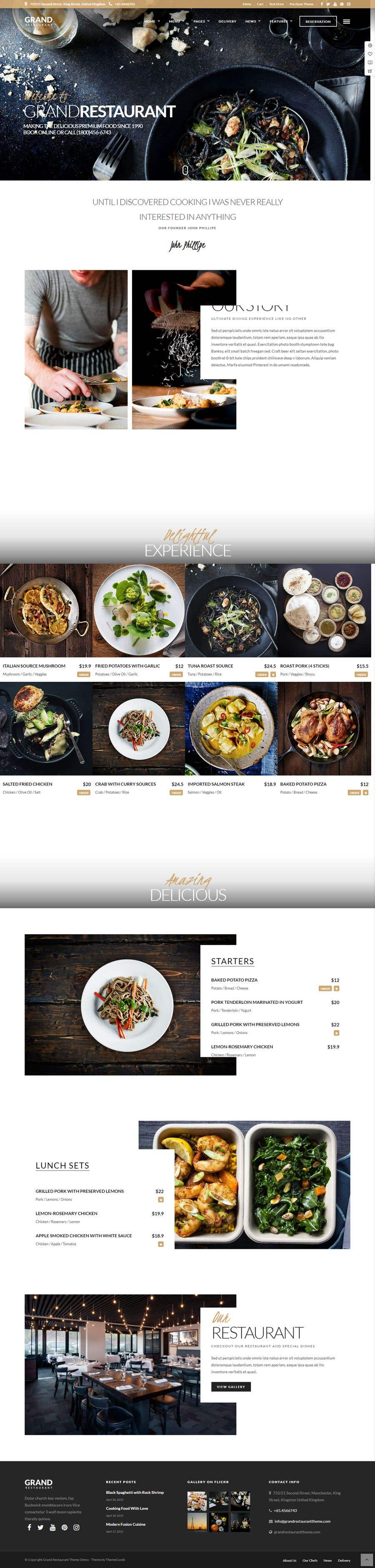Конкурсная заявка №5 для Design A Website and Logo For Restaurant