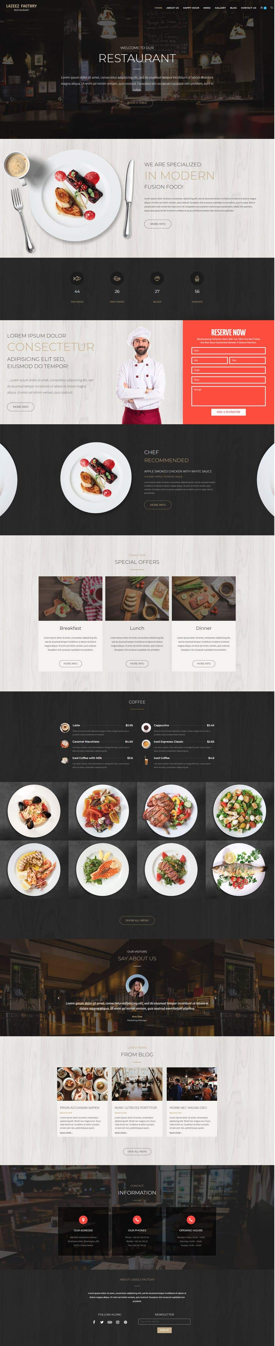 Konkurrenceindlæg #118 for Design A Website and Logo For Restaurant