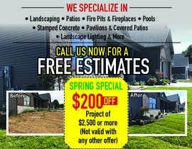 Nro 18 kilpailuun Design Print Ad For Landscaping Business käyttäjältä dsyro5552013