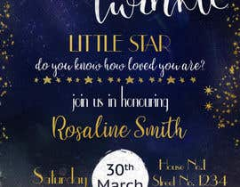 #21 untuk An Amazing twinkle twinkle little star baby shower invitation oleh sonalfriends86