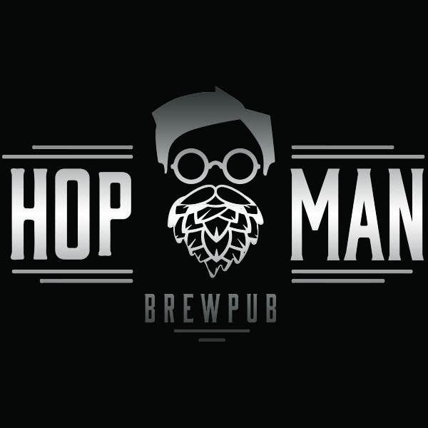 Kilpailutyö #22 kilpailussa As you can see, we have a logo, but we need to change the slogan of it and some words. Instead of Hop Doc  - we want it to be Hop Man. And slogan should be Brewpub. If we will like your style - we will work a lot in the future!