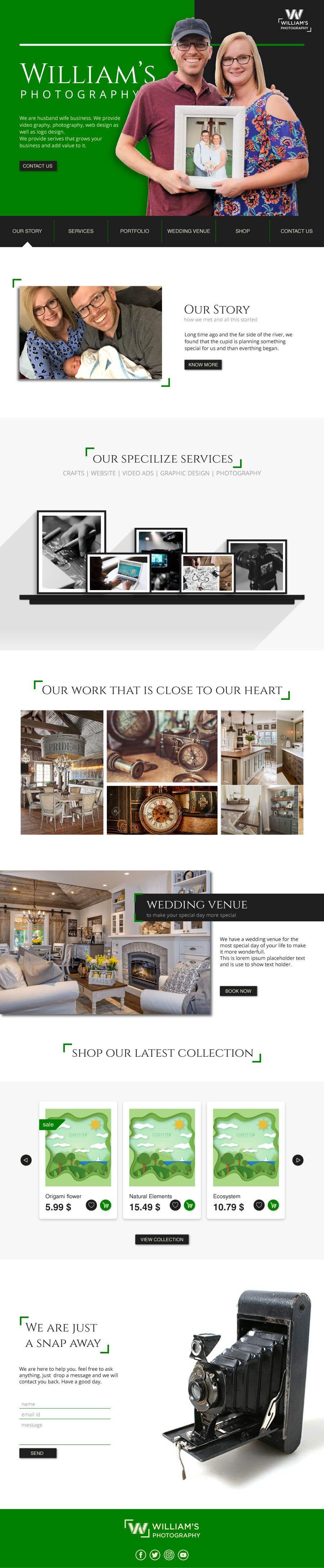 Kilpailutyö #57 kilpailussa Design Clean, Minimalist, Professional Website Layout and Logo