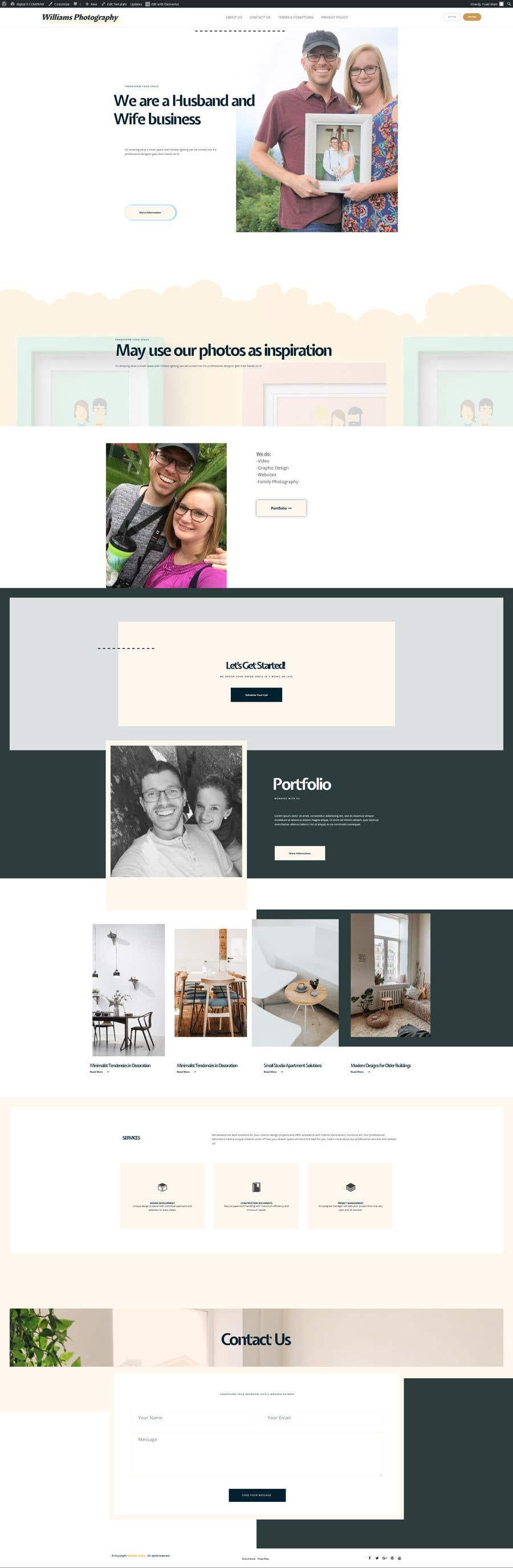 Kilpailutyö #44 kilpailussa Design Clean, Minimalist, Professional Website Layout and Logo