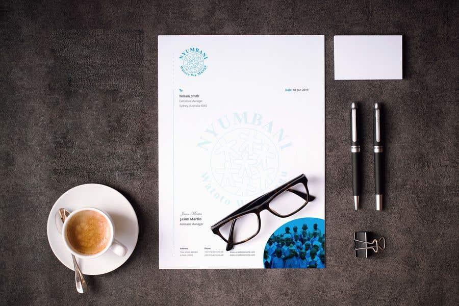 Penyertaan Peraduan #376 untuk design letterhead