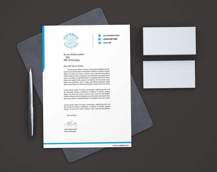 Penyertaan Peraduan #65 untuk design letterhead