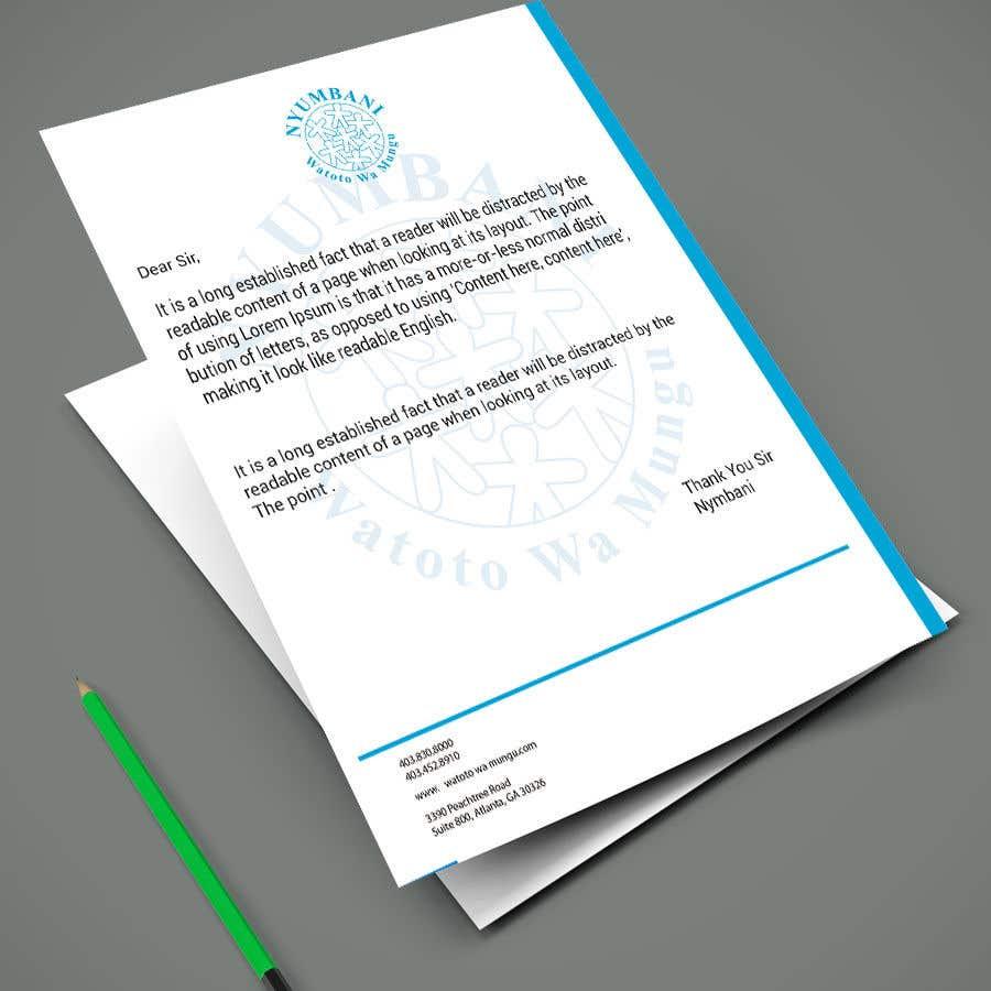 Penyertaan Peraduan #90 untuk design letterhead