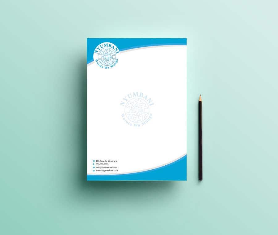 Penyertaan Peraduan #240 untuk design letterhead