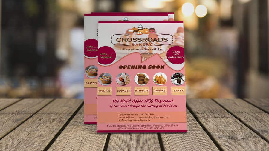 Конкурсная заявка №29 для Need a flyer for a new opening of a Bakery outlet