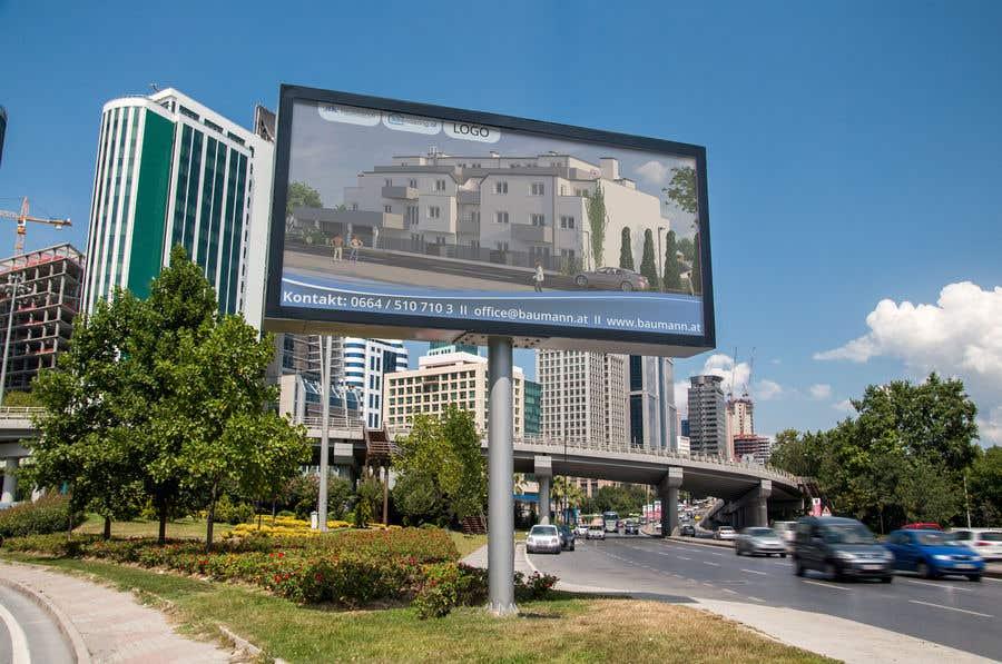 Penyertaan Peraduan #3 untuk Project Image board in front of Building site