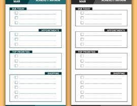 #13 untuk design a Print Ready DL size Daily Planner oleh sainianupam98