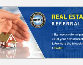 "#91 untuk Need website banner for ""Real Estate Agent Referral Program"" oleh MOMODart"