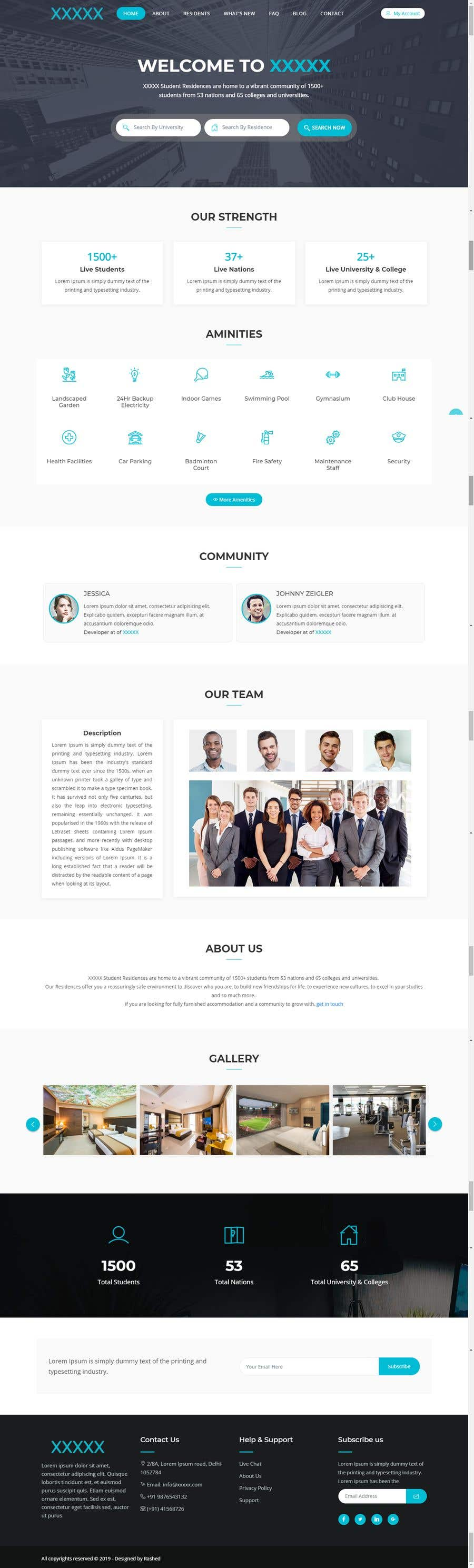 Penyertaan Peraduan #74 untuk Building a 2 pages of Website UI & UX. Best entry to get opportunity for completing 70+ screens UI & UX as well.