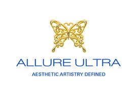 #7 for upscale beauty comp. love butterfly and Allure Ultra font but thicker/bold.would like the A and U in Allure Ultra to be elegant cursive font.slogan's font to be an elegant/easy to read font.colors royal blue and gold.more space between sloganandcomp name by uniquemind290