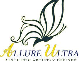 #16 for upscale beauty comp. love butterfly and Allure Ultra font but thicker/bold.would like the A and U in Allure Ultra to be elegant cursive font.slogan's font to be an elegant/easy to read font.colors royal blue and gold.more space between sloganandcomp name by Taimum
