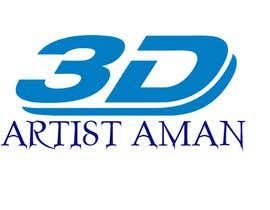 zahidshovon tarafından Design a logo for my works. Name is 3D Artist aman. için no 10