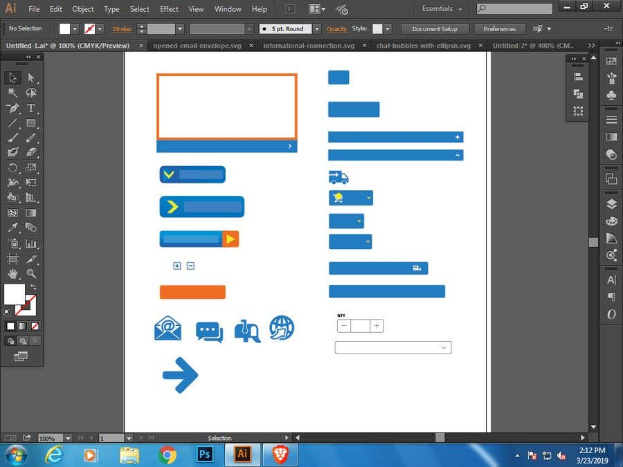 Proposition n°7 du concours Design Some Icons and Buttons for Website