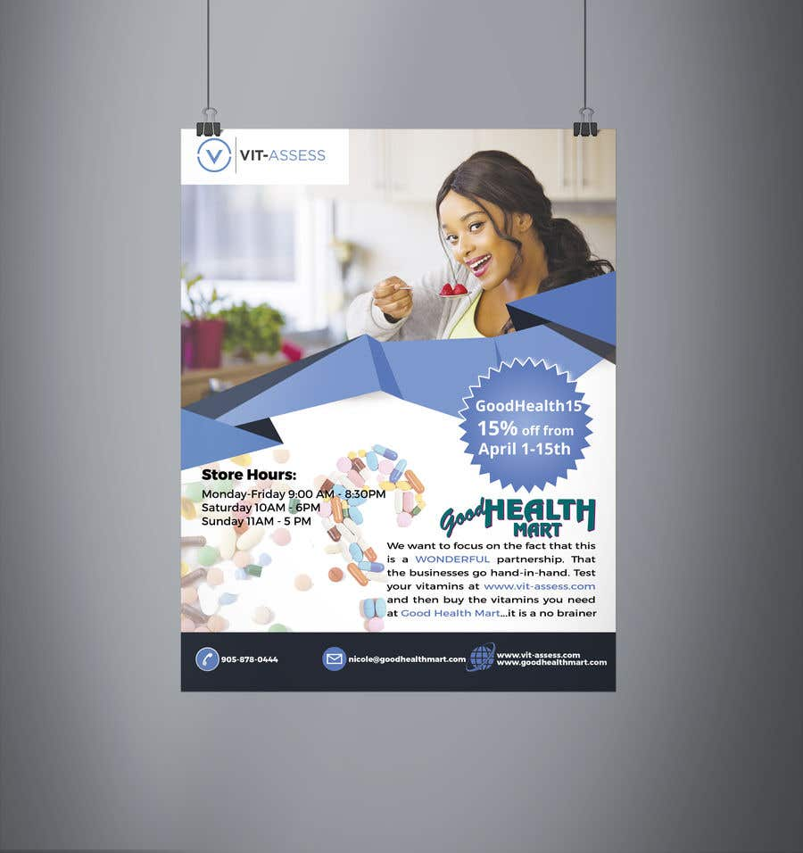 Inscrição nº 94 do Concurso para Advertisement for Health Store flyer