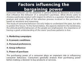ferozuddin1 tarafından Factors influencing the bargaining power of both parties during negotiation için no 2