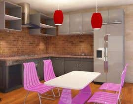 #34 untuk Modern kitchen design, with elements of loft style. oleh Scai