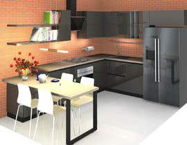 #29 untuk Modern kitchen design, with elements of loft style. oleh alfaysal87