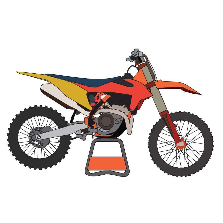Kilpailutyö #7 kilpailussa Illustration Motorbike