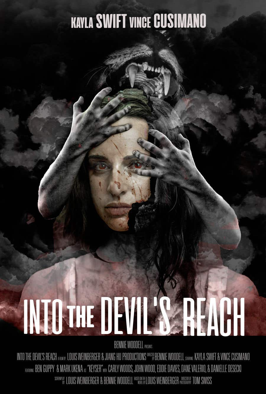 "Kilpailutyö #67 kilpailussa Create a Movie Poster for ""Into the Devil's Reach"""