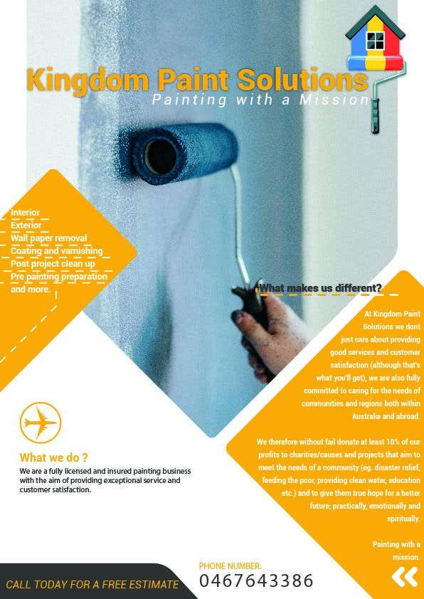 Proposition n°5 du concours Labour Painting flyer and logo