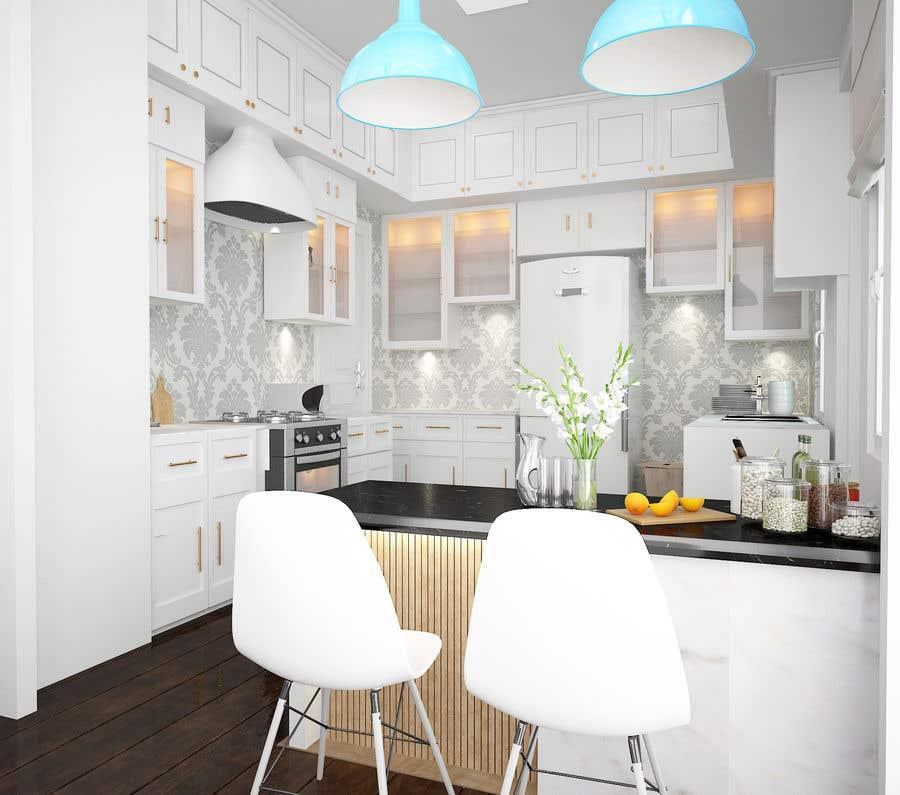 Penyertaan Peraduan #10 untuk Interior Design of our New Kitchen