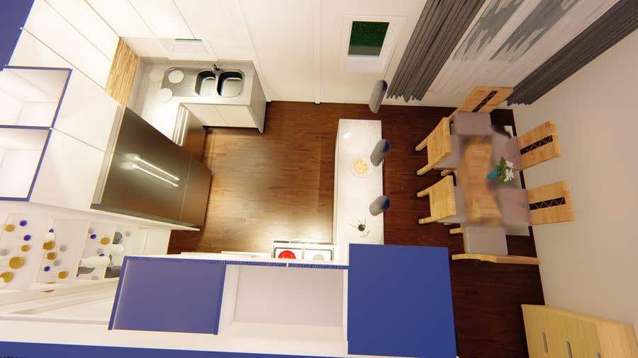 Penyertaan Peraduan #5 untuk Interior Design of our New Kitchen