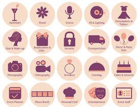 #15 untuk Design simple eye catching icons for Website oleh imolatoth
