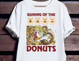 #26 para Design a t-shirt for the 2019 Running of the Donuts por SabbirCreative