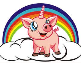 #49 for Illustration of a Pig Unicorn. (Pig with Horn) af tatangsaefudin