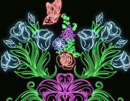 #44 for Create a Neon Flower Design With Lots of Flowers (full image coverage) af mohhomdy
