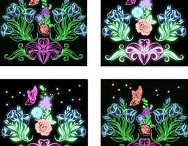 #45 for Create a Neon Flower Design With Lots of Flowers (full image coverage) af mohhomdy