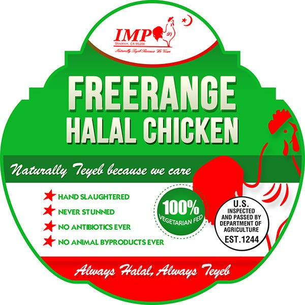 Inscrição nº                                         8                                      do Concurso para                                         Graphic Design for US chicken label to be placed on bagged chicken