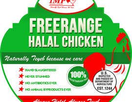 Nro 8 kilpailuun Graphic Design for US chicken label to be placed on bagged chicken käyttäjältä creationz2011