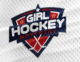 nº 23 pour Girl Hockey Logo par debbiehireme