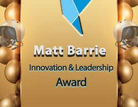 #19 for Design a trophy or plaque for the Matt Barrie Innovation and Leadership Award by femolacaster