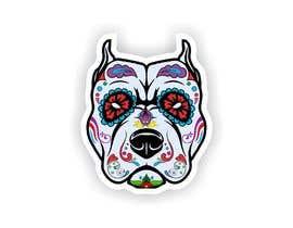 nº 9 pour Sugar Skull Pitbull Design par naythontio
