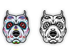 nº 17 pour Sugar Skull Pitbull Design par naythontio