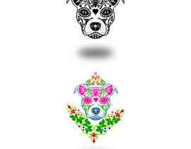 nº 15 pour Sugar Skull Pitbull Design par mdzafar997