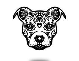 nº 18 pour Sugar Skull Pitbull Design par mdzafar997