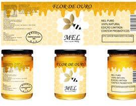 #15 para Rótulo para pote de mel FLOR DE OURO por mrsi