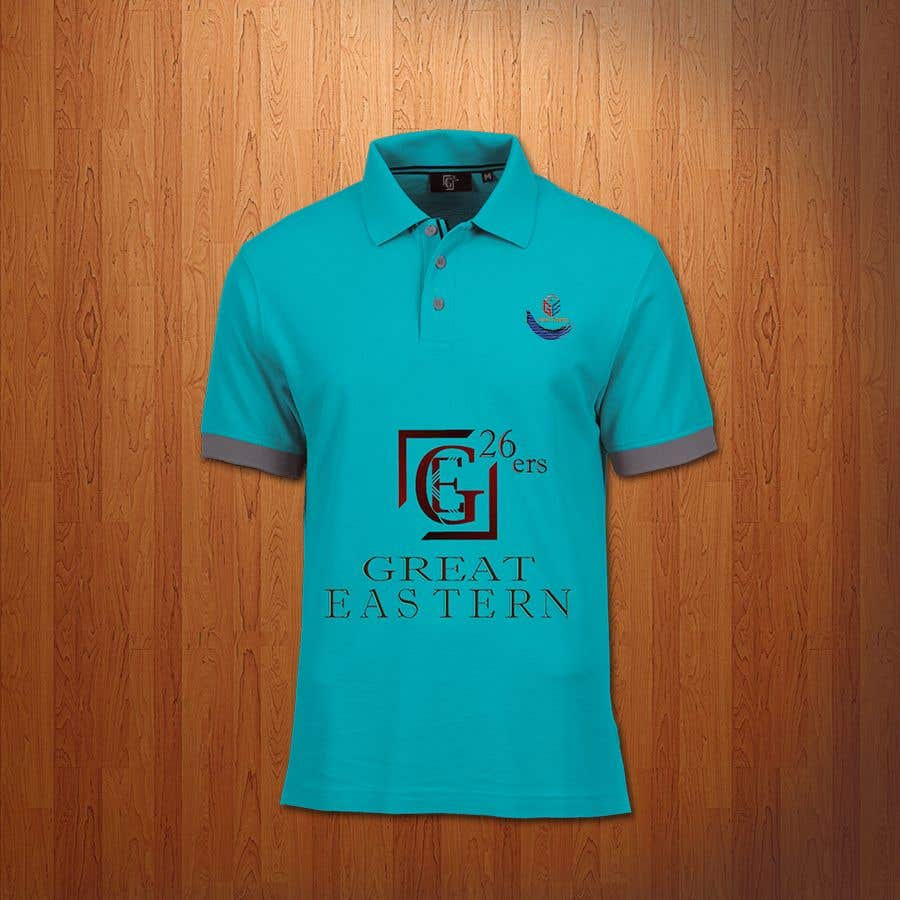 Proposition n°34 du concours GE (Great Eastern) 26ers. Darts team. 26 is a score when you hit 20,5,1 a fairly bad throw. So would like this encorporated into the design. A full polo shirt