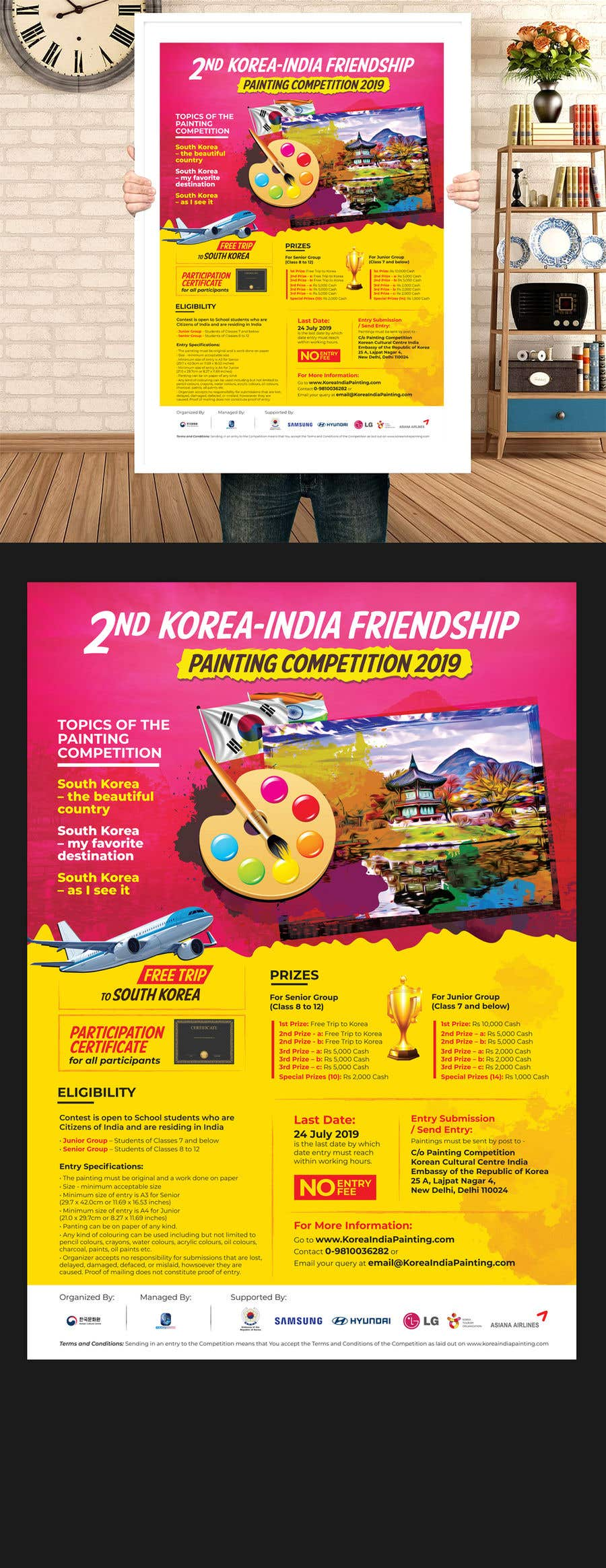Poster for Painting Competition 2019 | Freelancer
